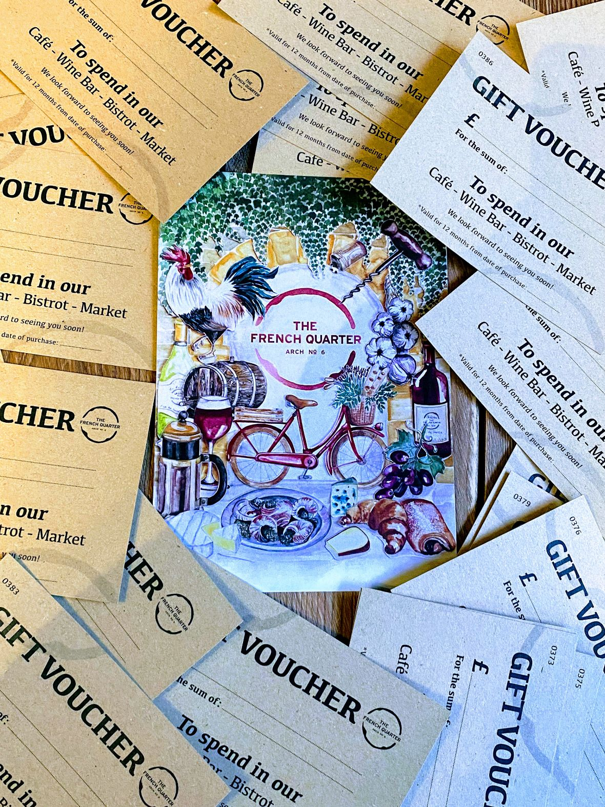 Collection of The French Quarter gift vouchers